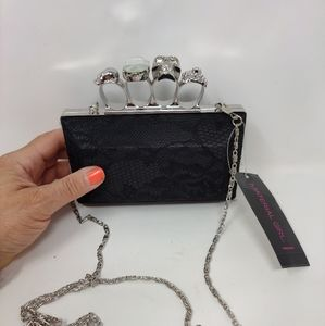 Material girl nwt knuckle holding laced purse